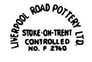 Liverpool Road Pottery Ltd backstamp (makers mark)
